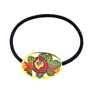 enamel ponytail holders, Cloisonne ponytail holder
