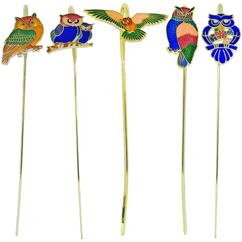 Owls bookmarks- enamel bookmarks