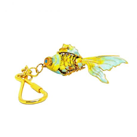 key chain | Cloisonne gold fish key chain