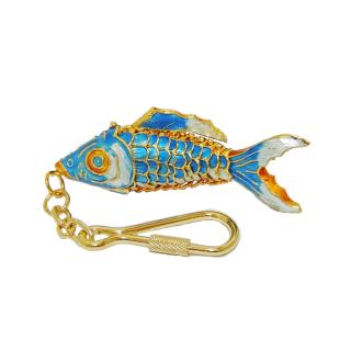 metal key chains | Cloisonne fish key chain