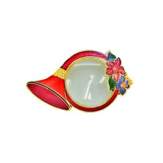 magnifier | pocket magnifier | cloisonne french horn magnifier necklace